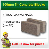 100mm 7n/mm2 solid concrete blocks from only £7.95 per 10 + VAT