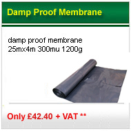 1200g 25mx4m Damp proof membrane only £32 per roll +VAT